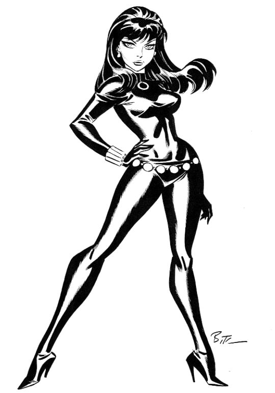 Fashion And Action The Black Widow Bruce Timm Art