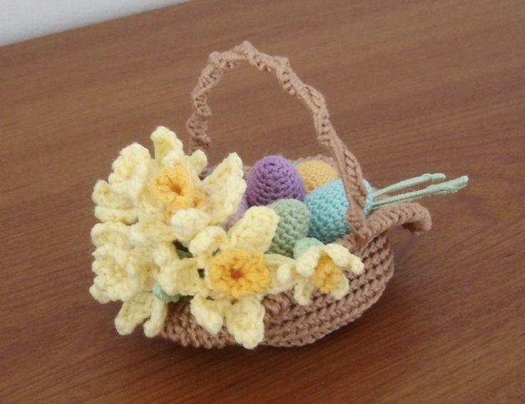 340 best easter crochet knitting images on pinterest baby easter basket diy negle Images