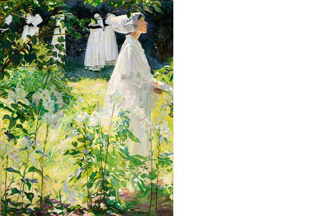 'A Convent Garden, Brittany' by William John Leech, National Gallery, Dublin, Ireland