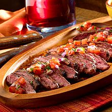 Salsa Criolla, or Creole Sauce, is a traditional Argentinean sauce used to adorn grilled meats.