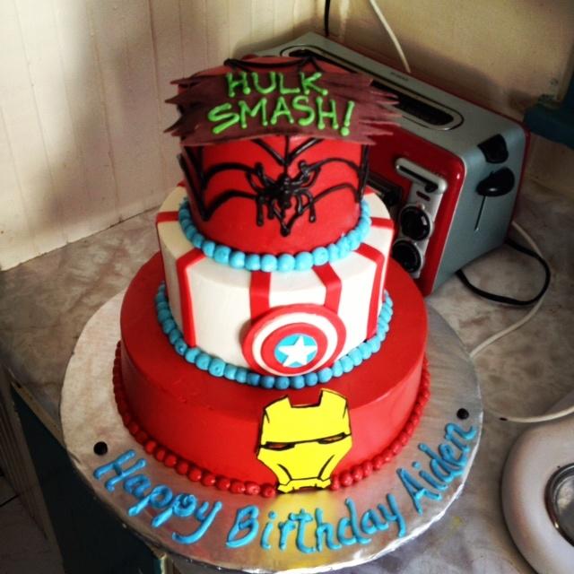 Hulk Spiderman Iron Man Captain America Cake Ideas 107338