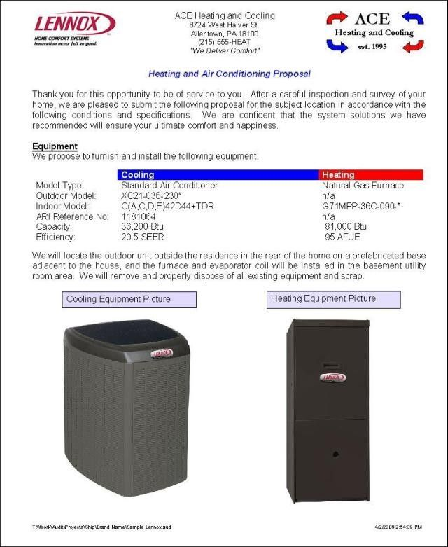 Hvac Proposal Template Eliminate Your Fears And Doubts About Hvac