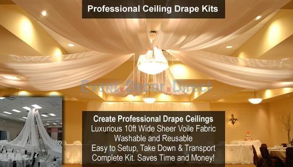 Ceiling Draping Kits