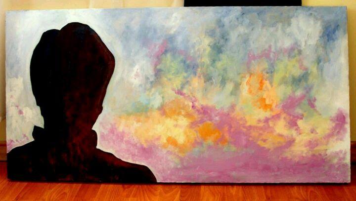 Horizonte... Pintado al oleo por Ricardo Montes Moscoso