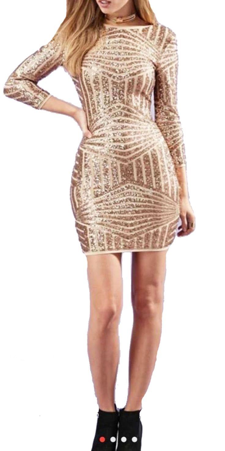 Sequin Φόρεμα Μίνι με Παγιέτες και εσωτερική φόδρα