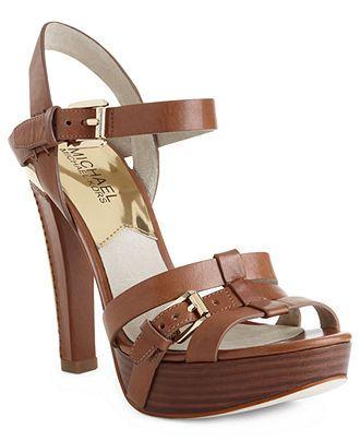 MICHAEL by Michael Kors Shoes, Grace Platform Sandals - Sandals - Shoes - Macy's