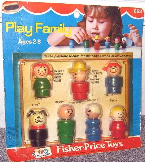 Fisher Price: 1966 Play Family PLAY FAMILY FIGURES #Vintage #Toys