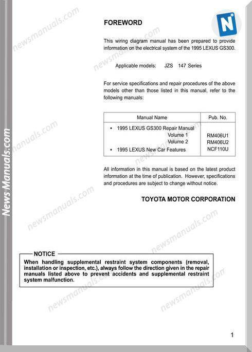 Lexus Gs300 1995 Wiring Diagram Manual Electrical System171u Usa 1995 Trong 2019