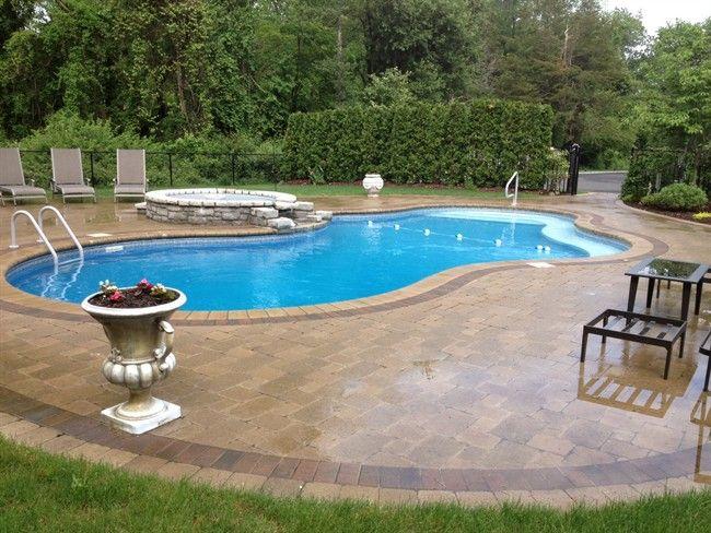Pool Legacy Edition Vinyl Lined Pool Mountain Lake Shape