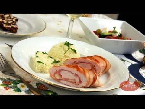 Baconbe tekert csirkemell - Karácsonyi menü - SegitunkFozni.hu - YouTube