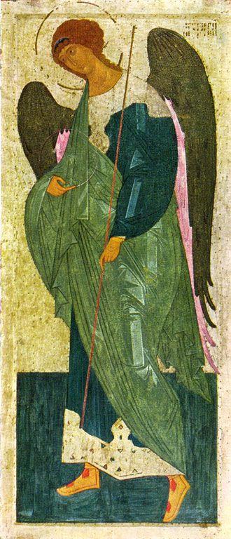Архангел Гавриил. Из деисусного чина Ферапонтова монастыря. 1502. Государственная Третьяковская галерея
