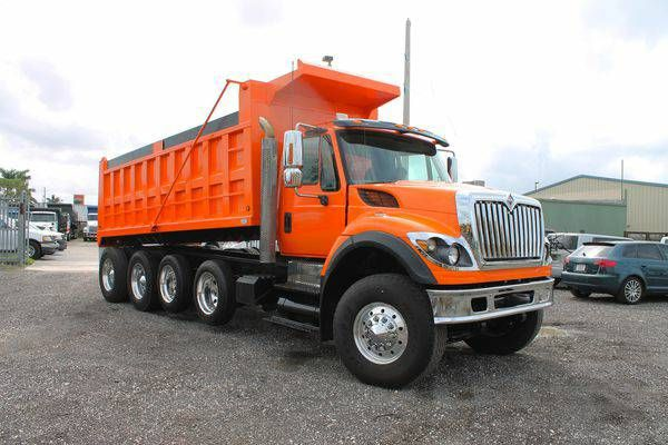 2008 International WorkStar 7600 Quad Axle Dump Truck For Sale (305)930-6374 ( E.R. Truck)