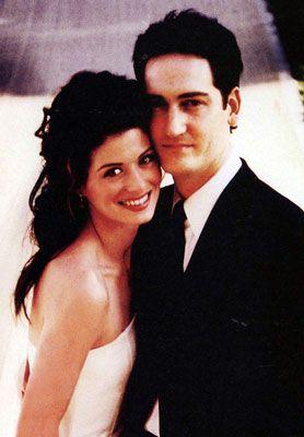 Debra Messing and Daniel Zelman at Their Wedding-2000