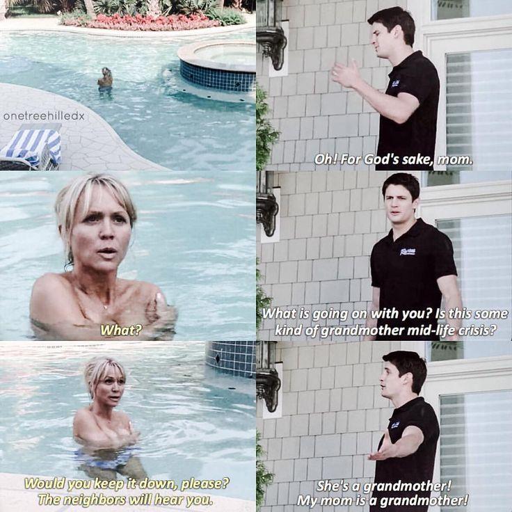 One Tree Hill - Deb Scott (Barbara Alyn Woods) & Nathan Scott (James Lafferty)