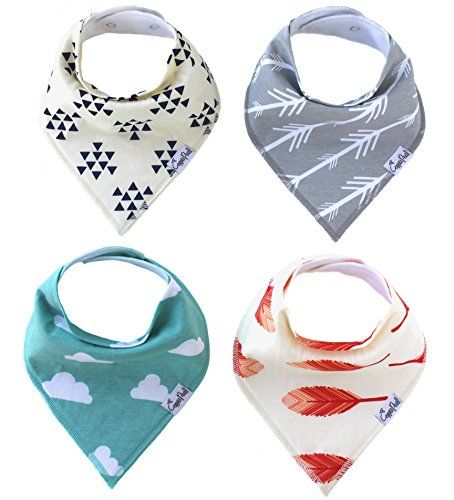 """You'll never get tired of putting your child in their """"bibdana"""" drool bib. It's like a cute baby scarf, but it's functional too. Our designs are gender neutral so they make every baby boy or baby girl a hip baby."""