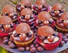 Schoko-Schildkröten-Muffins mit Ü-Eiern – #mit #SchokoSchildkrötenMuffins #Ü…
