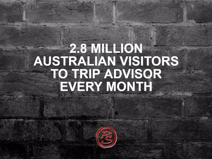 Is your business in the travel or hospitality industry? There are 2.8 million Australian visitors to TripAdvisor each month. You should be monitoring your business to make sure reviews are truthful and you are responding appropriately to criticism.    #RockSocial #RockSM #TripAdvisor #OnlineReviews #NegativeReviews