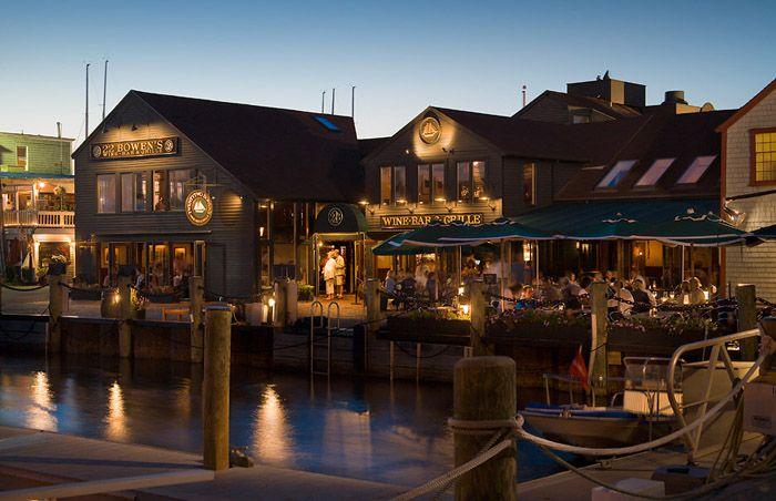 22 Bowen's Wine Bar & Grille, Newport, Rhode Island, is especially nice in the summer!