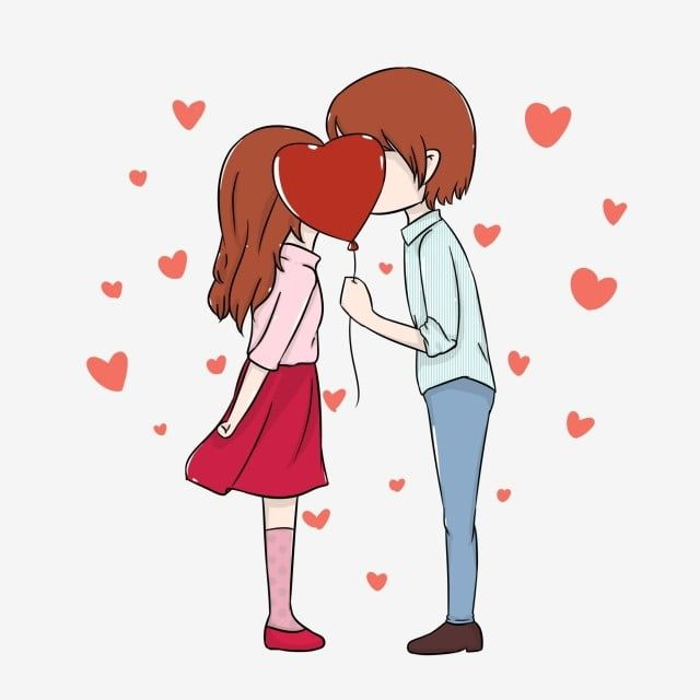 Cartoon Couple Hand Painted Love Heart Shaped Embellishment Decoration Chinese Valentines Day Png Transparent Clipart Image And Psd File For Free Download Valentine Cartoon Cartoon Clip Art Love Cartoon Couple