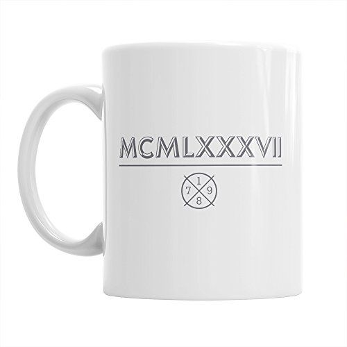 30th Birthday 30th Birthday Gift 30th Birthday Gifts For Men 30th birthday Gifts For Women 1987 Birthday Roman Numerals Mug 1987 Coffee Mug ** Visit the image link more details. Note:It is affiliate link to Amazon.