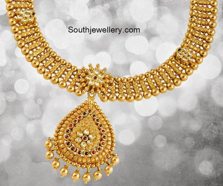 antique gold necklace models