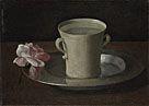 Francisco de Zurbarán: 'A Cup of Water and a Rose'