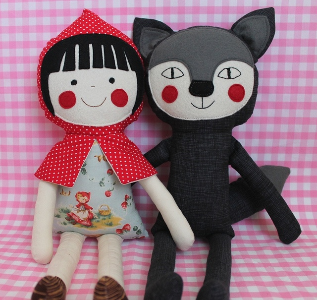 Little Red Riding Hood & Big (not so) Bad Wolf by blita, via Flickr