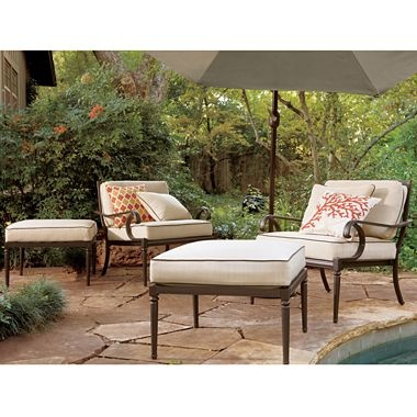 Amazing $480 For Two Chairs Westport Cushioned Brown Aluminum Patio Furniture    Jcpenney