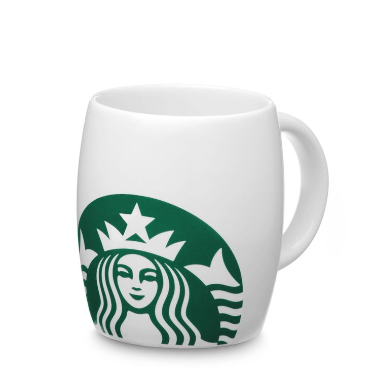 Tasse à café en céramique et porcelaine fine arborant le logo représentant la Sirène.