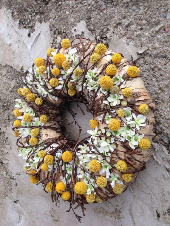 Spring Wreath - Birch Bark Wreath - Holiday Door Wreath - Easter Wreath - Mother Day Wreath