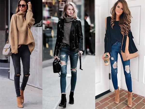 Damenmode Die Beste Zerrissene Jeans Outfits | Outfit, Mode