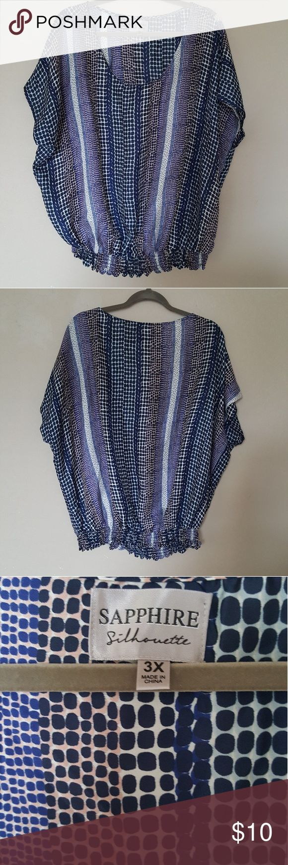 Sapphire short sleeve plus blouse top Good condition, no tears, no stains Tops