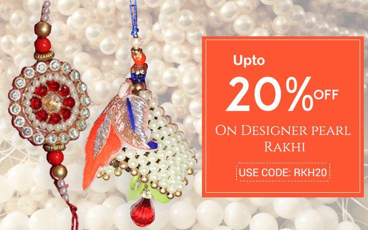 Designer Peral Bhaiya Bhabhi rakhi on this rakshbandhan @ Handicrunch