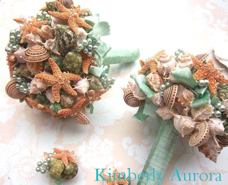 Bouquet da sposa spiaggia Seashell e Bouquet da di romanticflowers