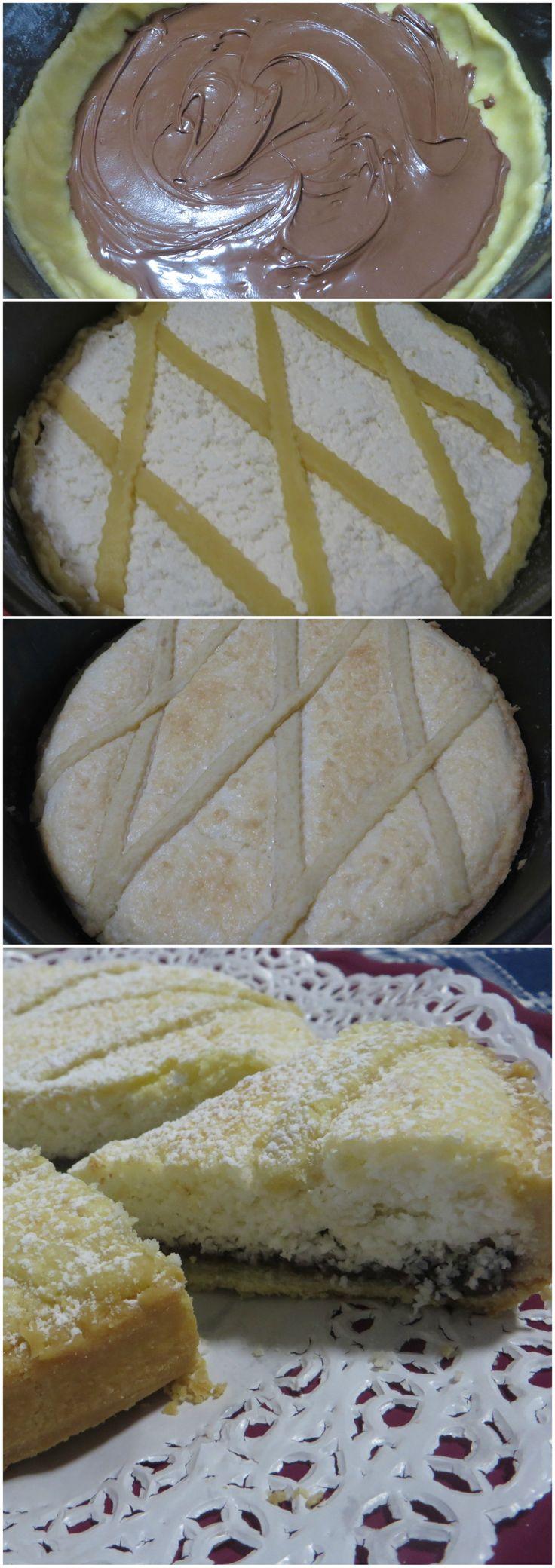 Crostata nutella, cocco e panna! Una super golosità! #crostata #nutella #cocco #ricettegustose
