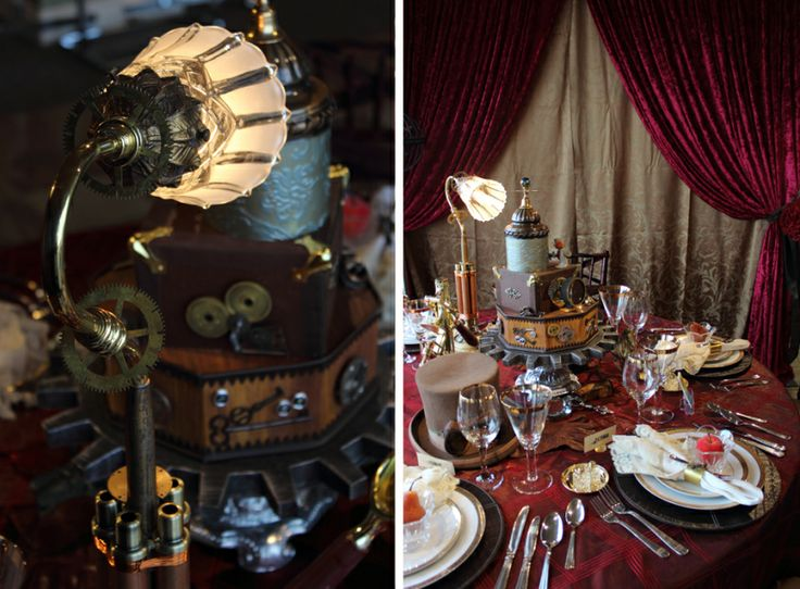 Best steampunk centerpiece ideas on pinterest