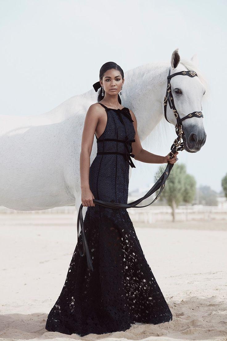 Chanel Iman by Silja Magg for Harper's Bazaar Arabia, November 2015