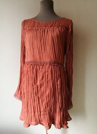Kaufe meinen Artikel bei #Kleiderkreisel http://www.kleiderkreisel.de/damenmode/kostume-and-besonderes/162544720-crash-kleid-mit-cutouts-spitzenborten-volants-coralle-lachs-4244