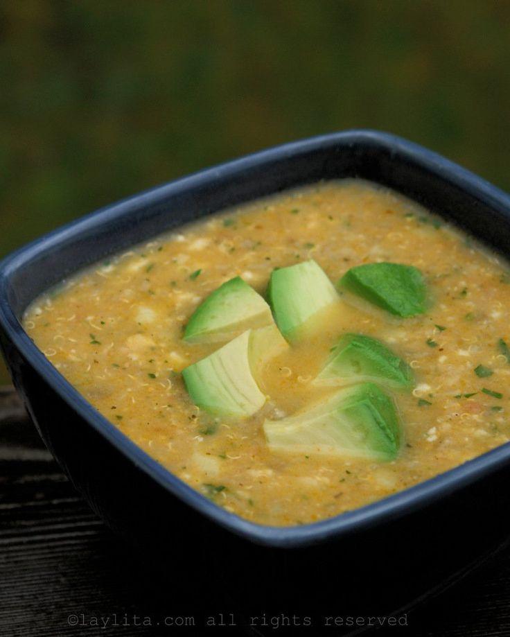 Quinoa, potato and cheese soup
