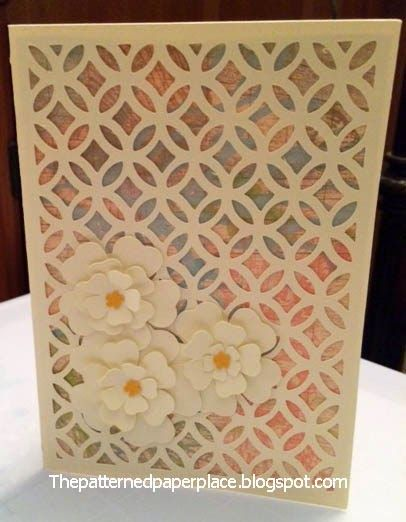 The Patterned Paper Place: Floral Condolence Card Artfully Sent CTMH