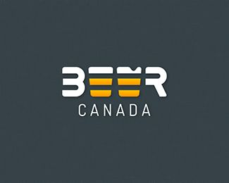 BeerCanada Logo Design   More logos http://blog.logoswish.com/category/logo-inspiration-gallery/ #logo #design #inspiration