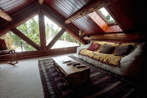 Комната для отдыха под крышей фото