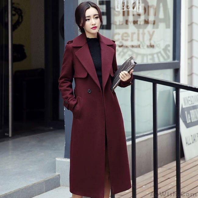 Wow~ Awesome New Women Long Lapel Single Breasted Trench Coat Bodycon Overcoat! It only $59.99 at www.AtWish.com! I like it so much<3<3!