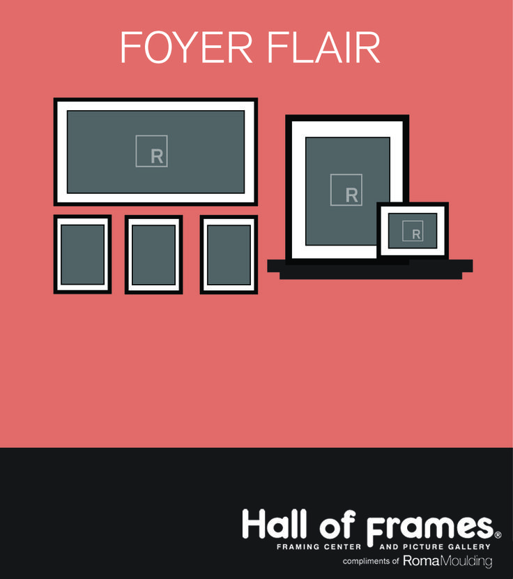 Framed Wall Groupings To Help Hang Arrange Your Art