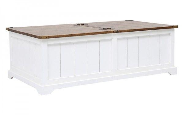 DARBY COFFEE TRUNK WHITE/CHOCOLATE   OZ Design Furniture & Homewares