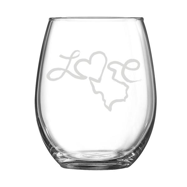 Love - Stemless Wine Glass