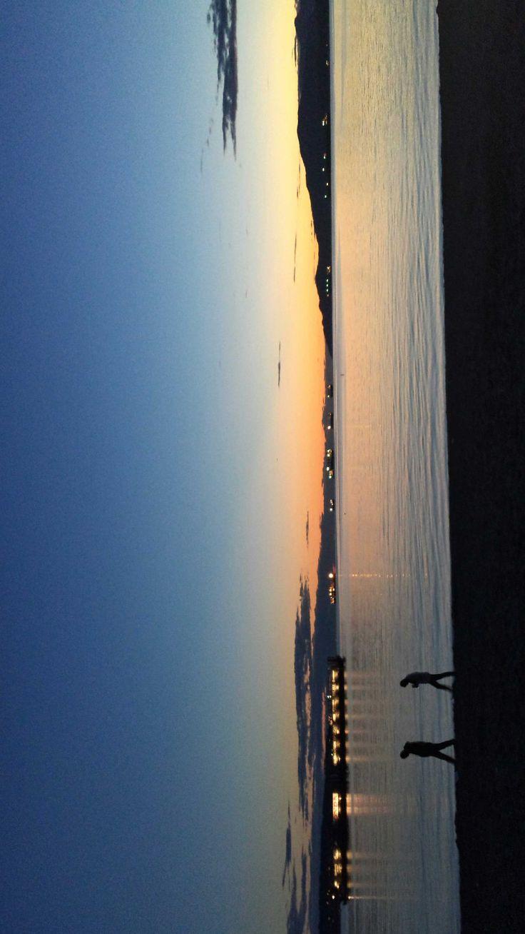 Peaceful sky after sundown