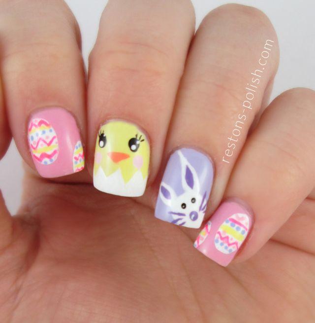Restons polish easter #nail #nails #nailart