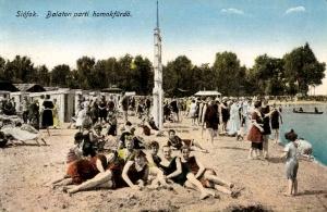 Plage of Siófok, 1910