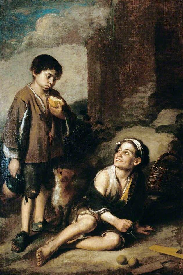 Δυο αγόρια στο Ντάλγουιτς στο νότιο Λονδίνο (1670-80)